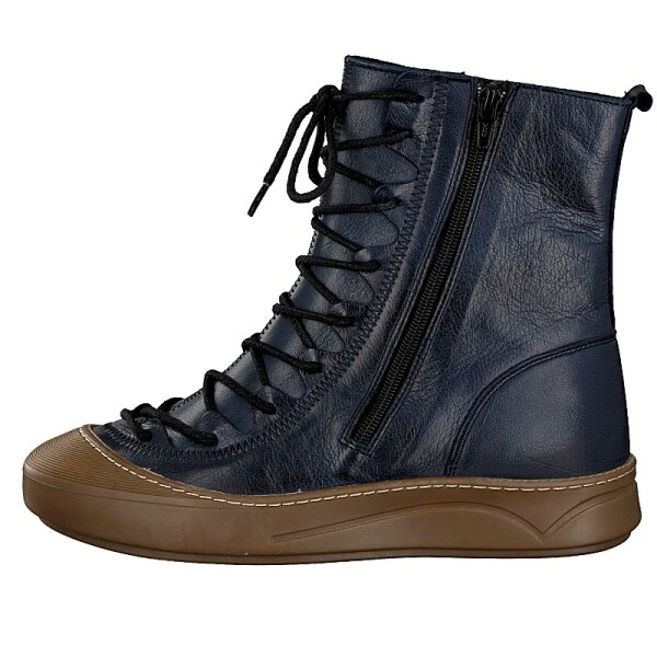 Gemini women lace-up boot blue