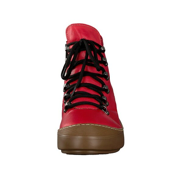 Gemini women lace-up boot red