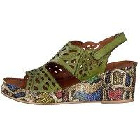 Gemini Damen Sandalette grün