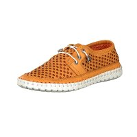 Gemini women lace-up shoe orange