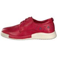 Gemini women lace-up shoe red