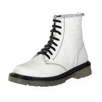 Gemini women lace-up boot white